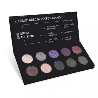 Paleta farduri Affect Smoky and Shiny 10 nuante imagine produs