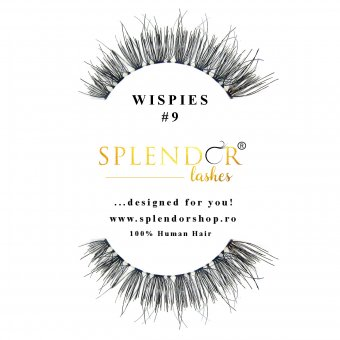 Gene false din par natural tip banda Splendor Lashes Wispies #9