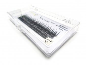 Gene false smocuri Excentric Soft Silk Lashes 76 buc marimea L