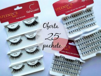 Gene false Splendor Lashes 25 pachete combinate reducere 30%