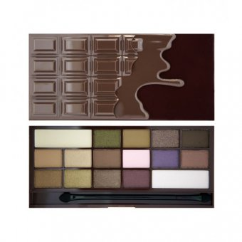 Paleta farduri Makeup Revolution I Heart Chocolate cu 16 nuante
