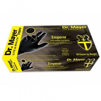 Manusi Nitril negre nepudrate de unica folosinta DR Mayer Emperor marimea M imagine produs