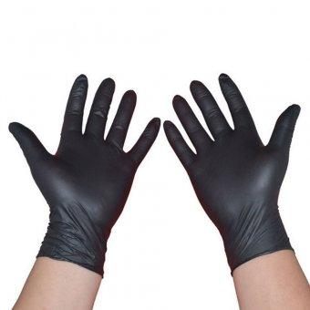 Manusi nitril negre nepudrate misena marimea XL 100 buc imagine produs