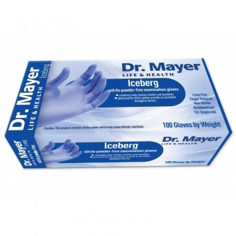 Manusi Nitril nepudrate de unica folosinta Iceberg DR Mayer marimea S imagine produs