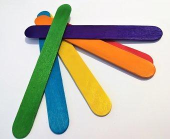 Spatule Lemn color 60 buc imagine produs