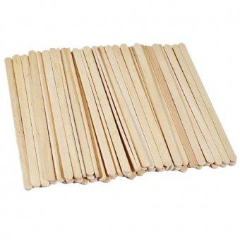 Spatule lemn inguste 100 buc 140 mm x 6 mm imagine produs
